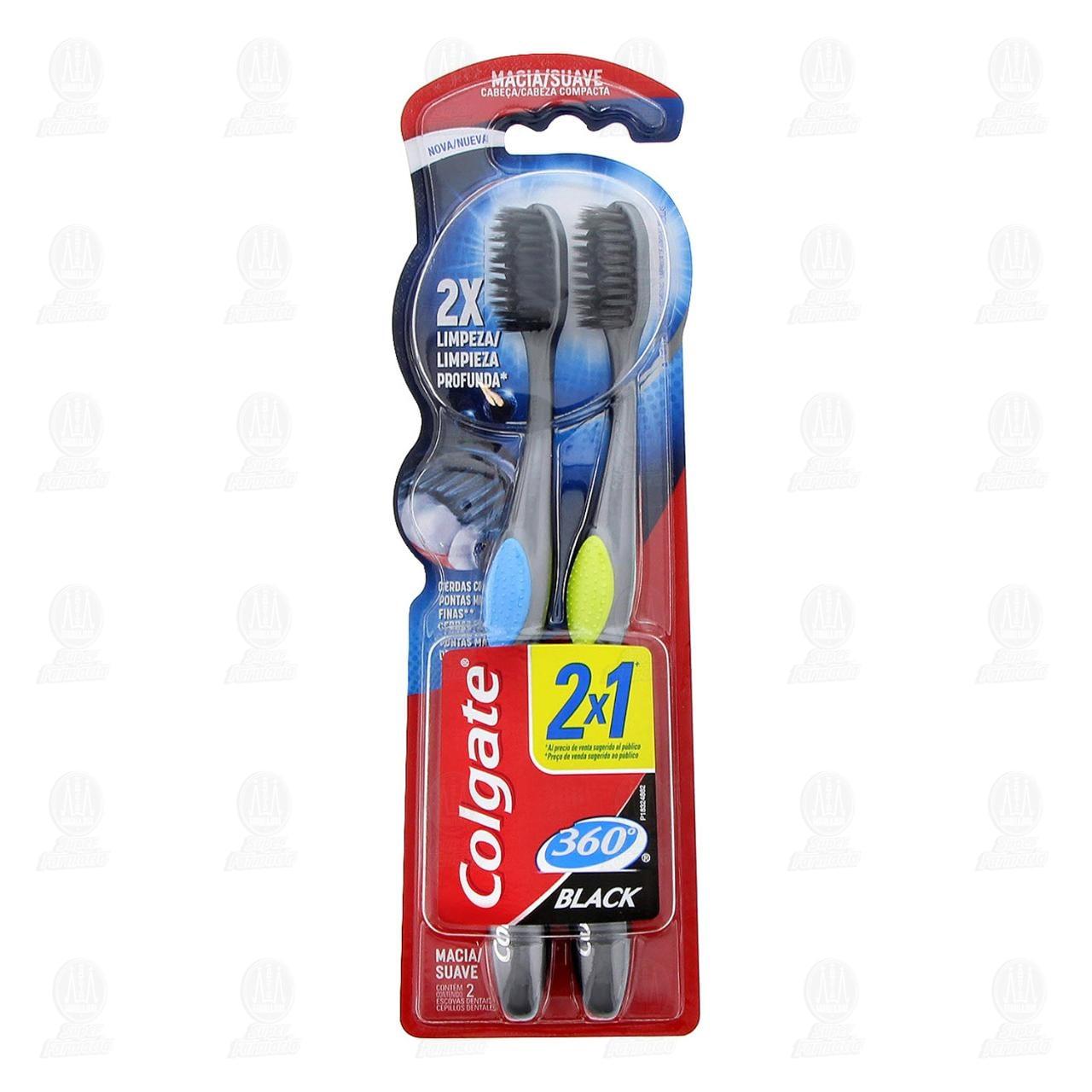 Comprar Cepillo Dental Colgate 360° Black, 2 pzas. en Farmacias Guadalajara