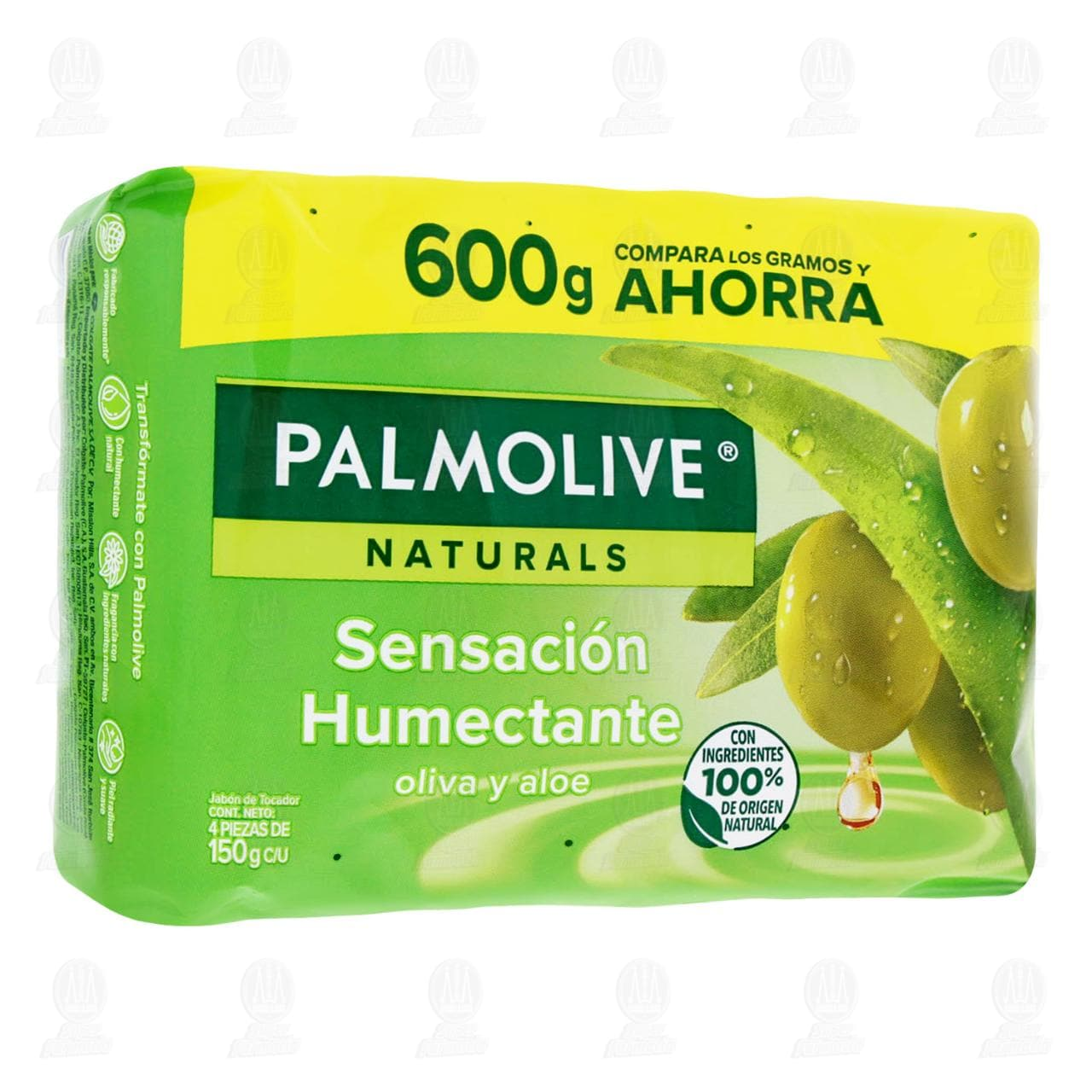 Comprar Jabón en Barra Palmolive Naturals Oliva y Aloe, 4 pzas de 150 gr. en Farmacias Guadalajara