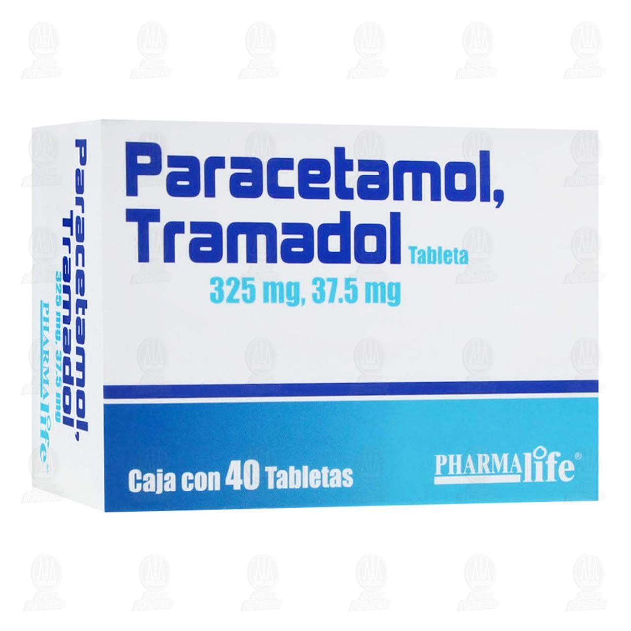 Comprar Paracetamol/Tramadol 325mg/37.5mg 40 Tabletas Pharmalife en Farmacias Guadalajara