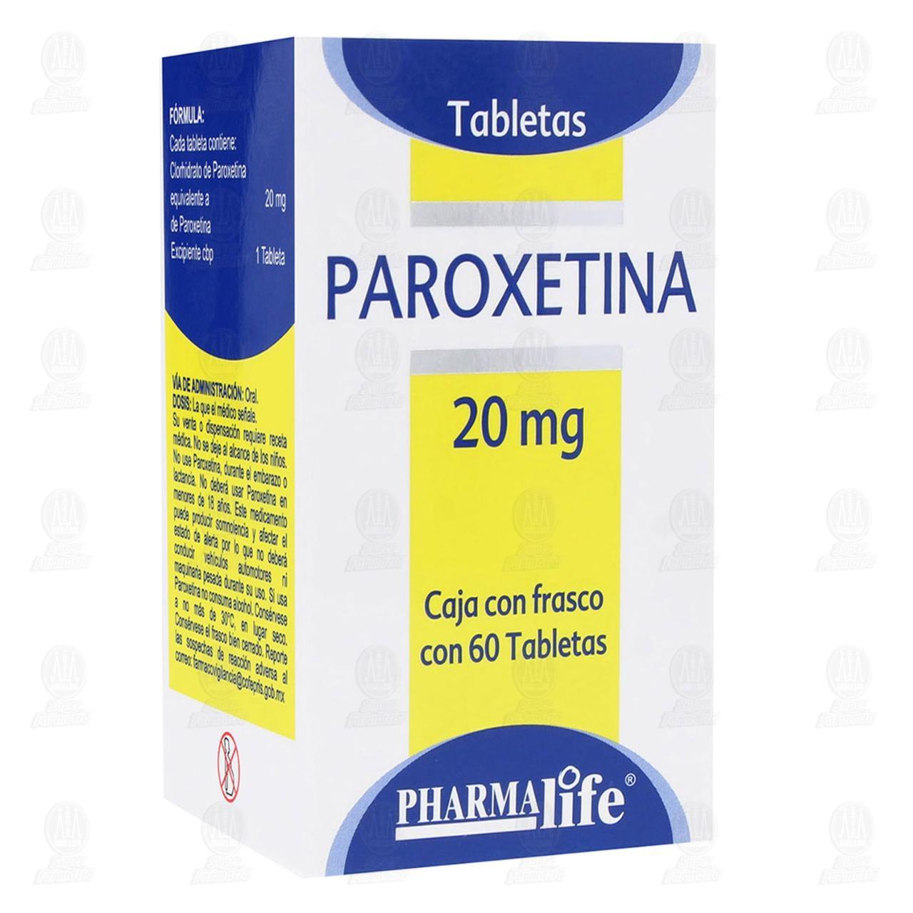 Paroxetina 20mg 60 Tabletas Pharmalife