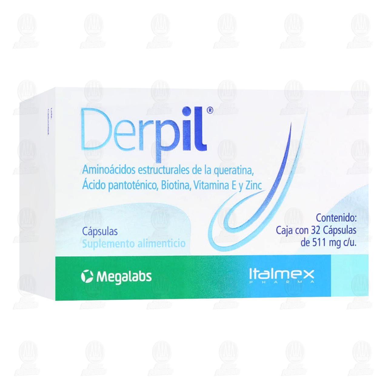 Comprar Derpil 511mg 32 Cápsulas en Farmacias Guadalajara