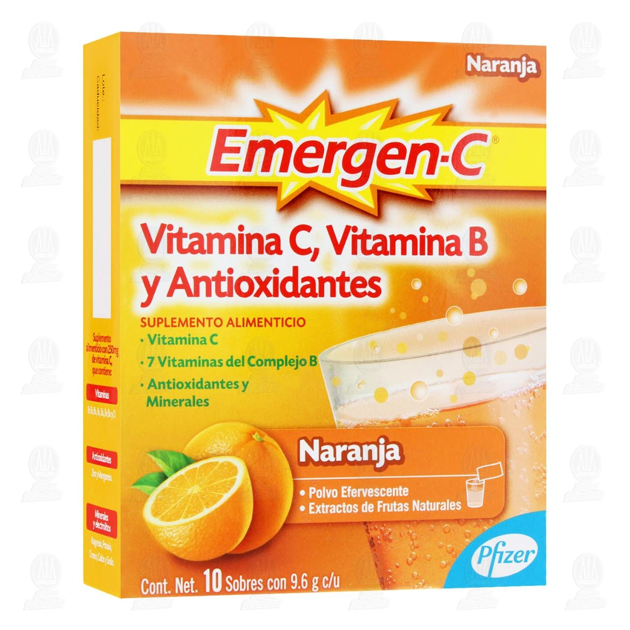 Comprar Emergen-C 9.6gr 10 Sobres Sabor Naranja en Farmacias Guadalajara