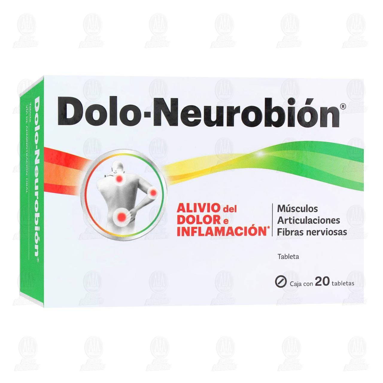 Comprar Dolo-Neurobión 20 Tabletas en Farmacias Guadalajara