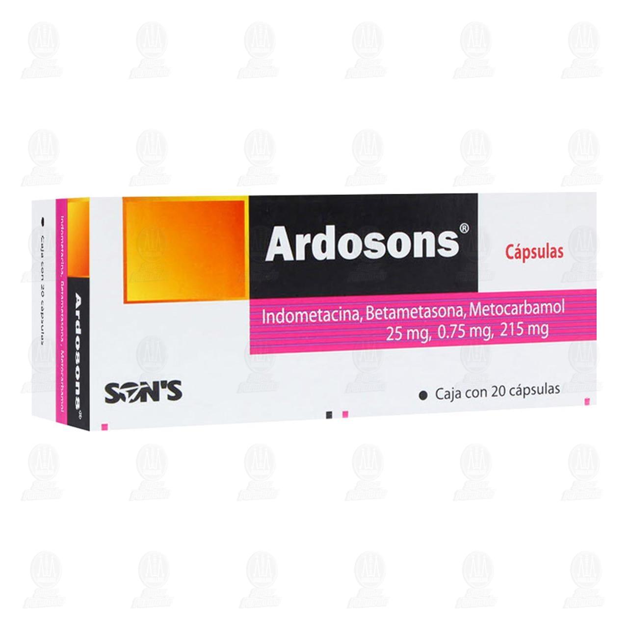 Ardosons 25/0.75/215mg 20 Cápsulas