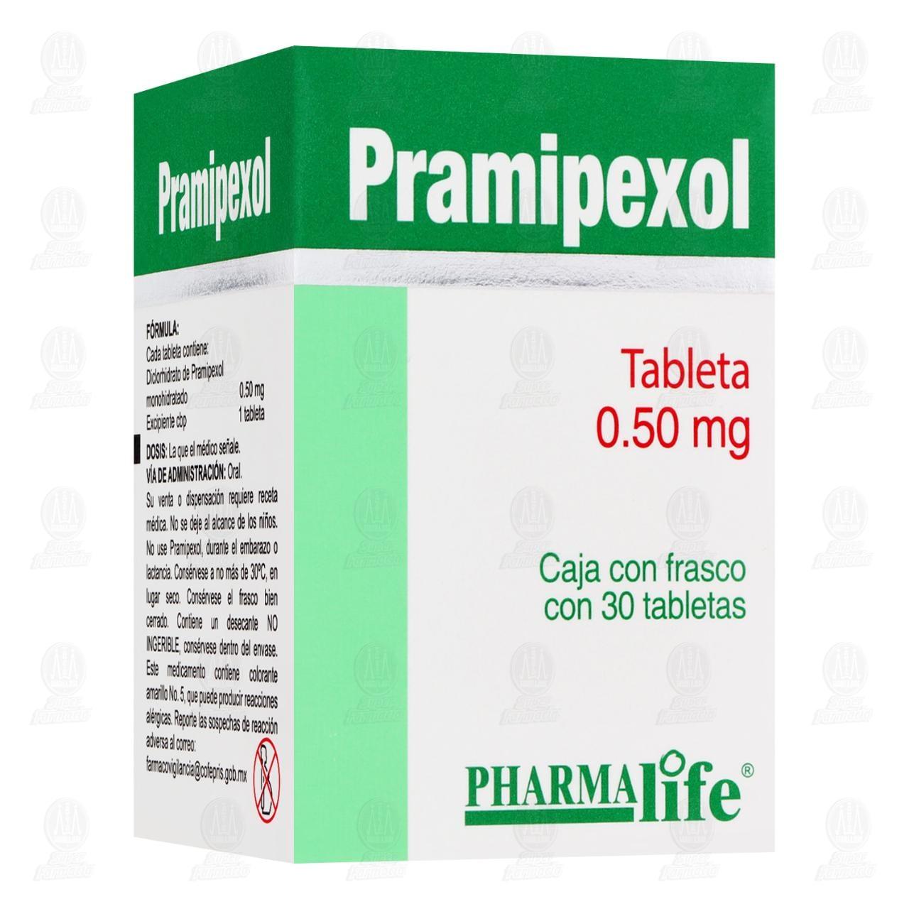Comprar Pramipexol 0.50mg 30 Tabletas Pharmalife en Farmacias Guadalajara
