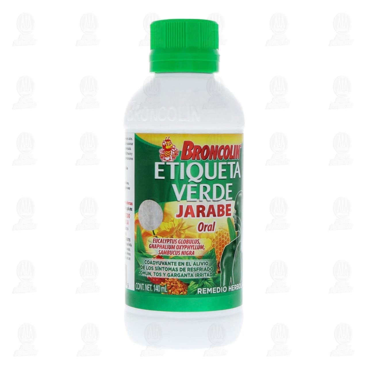 Broncolin Etiqueta Verde Jarabe 140ml