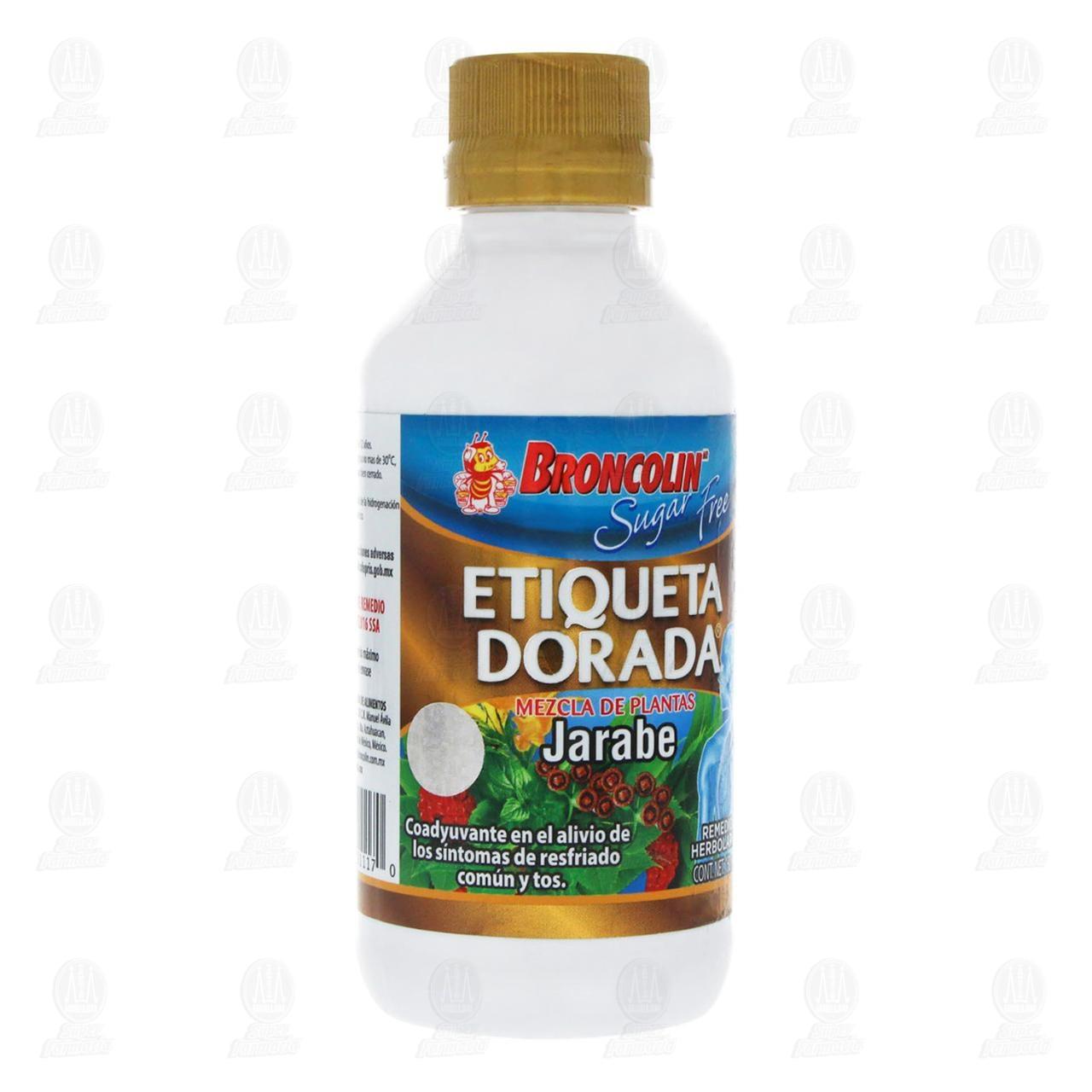 Comprar Broncolin Etiqueta Dorada Sugar Free Jarabe 150ml en Farmacias Guadalajara