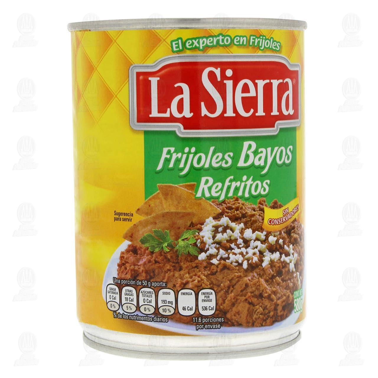 Frijoles La Sierra Bayos Refritos, 580 gr.