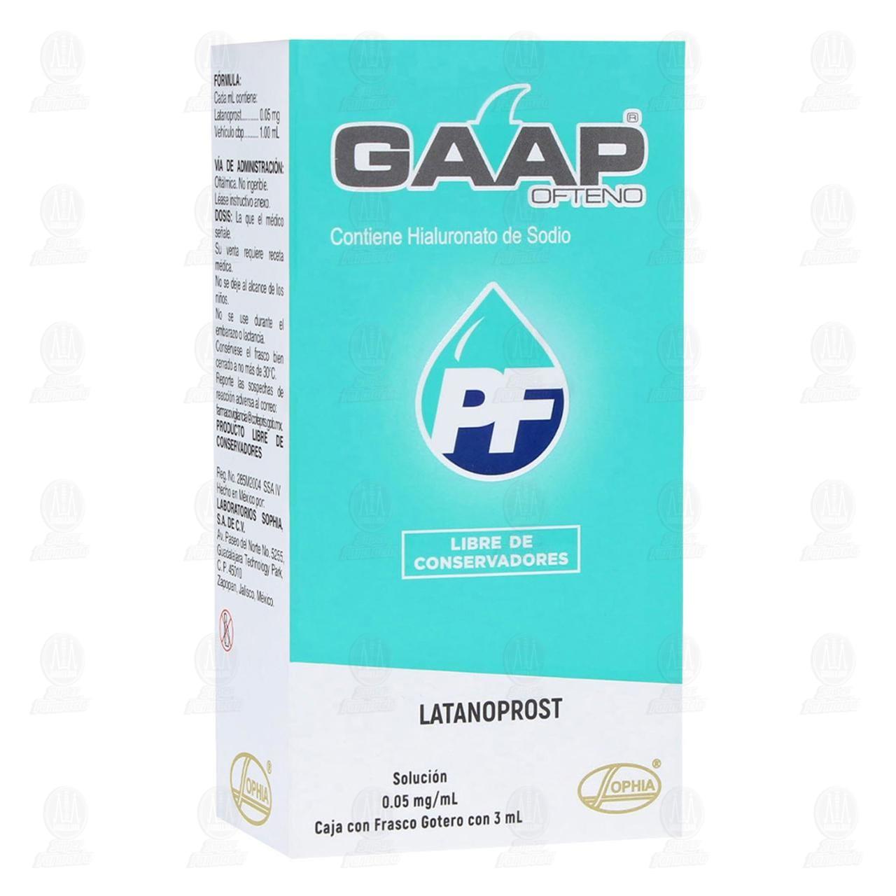 Comprar Gaap Ofteno PF 0.05mg/ml 3ml Solución Gotas en Farmacias Guadalajara