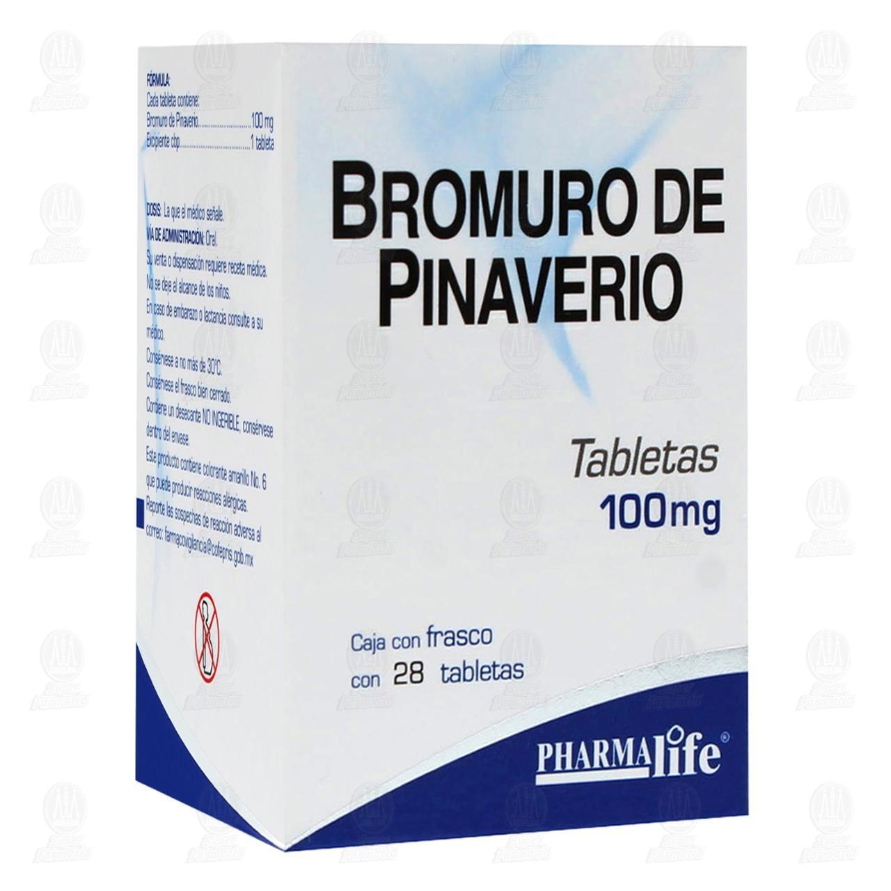 Comprar Bromuro Pinaverio 100mg 28 Tabletas Pharmalife en Farmacias Guadalajara