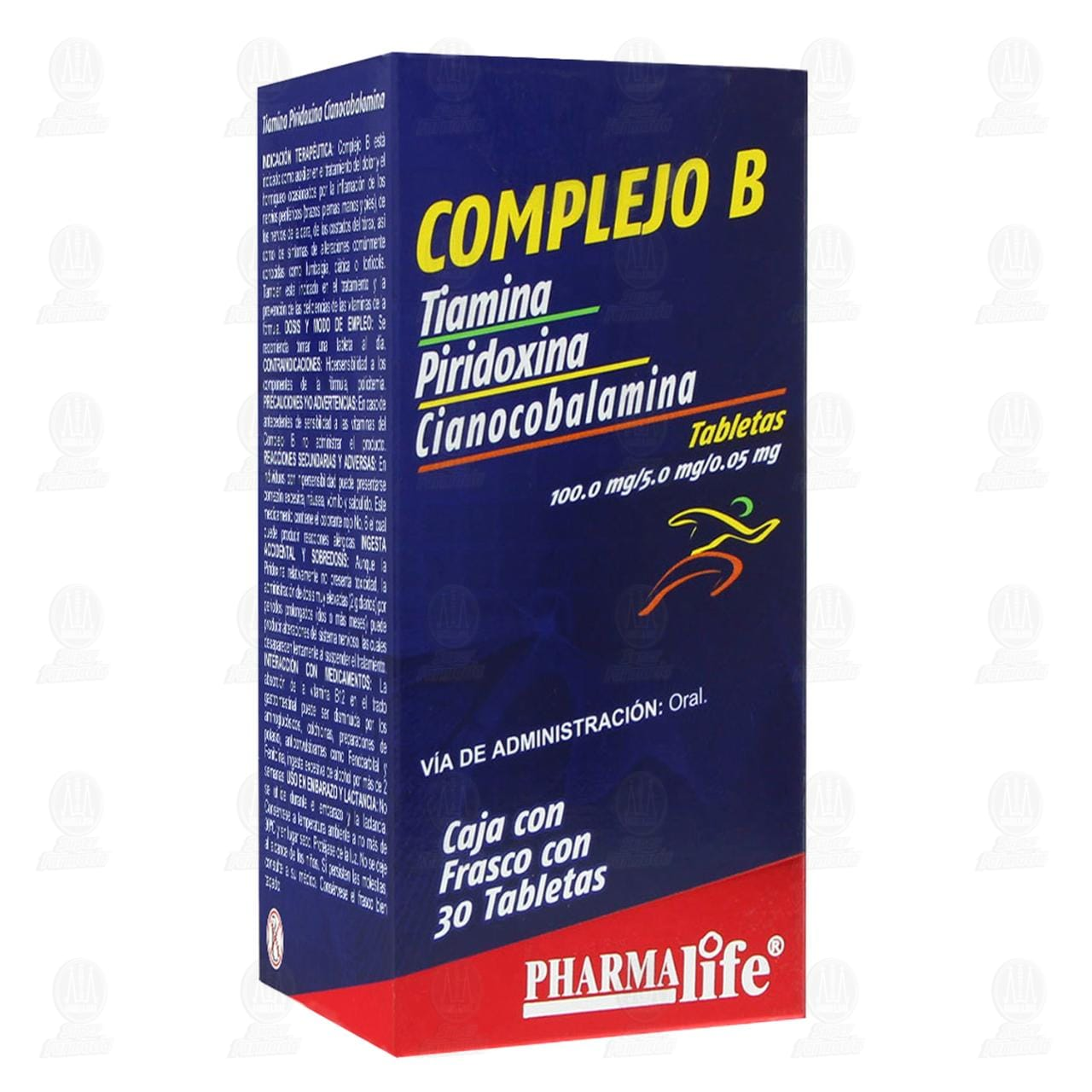 Comprar Complejo B 30 Tabletas Pharmalife en Farmacias Guadalajara
