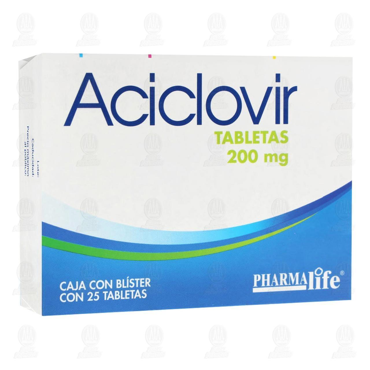 Comprar Aciclovir 200mg 25 Tabletas Pharmalife en Farmacias Guadalajara