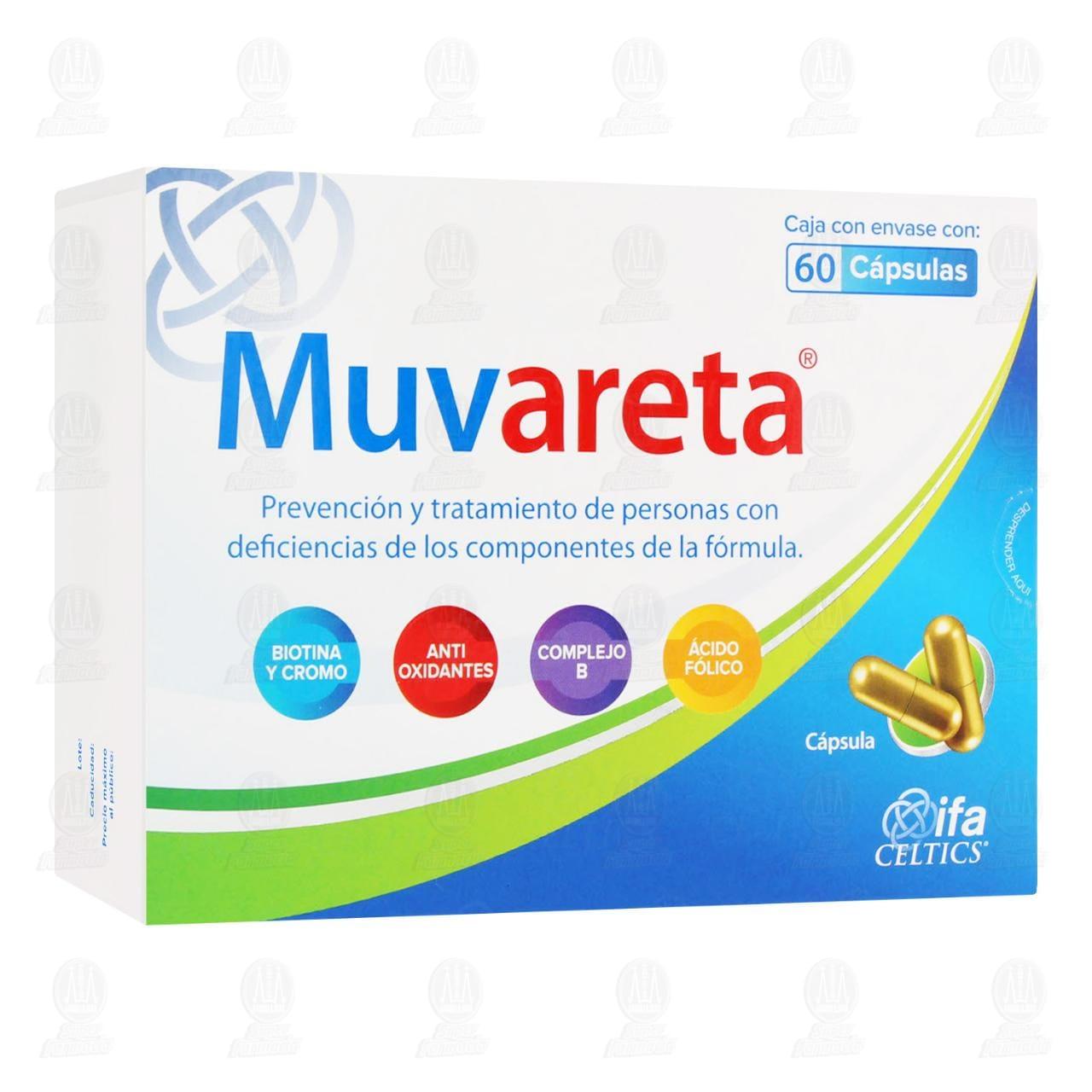 Comprar Muvareta 60 Cápsulas en Farmacias Guadalajara
