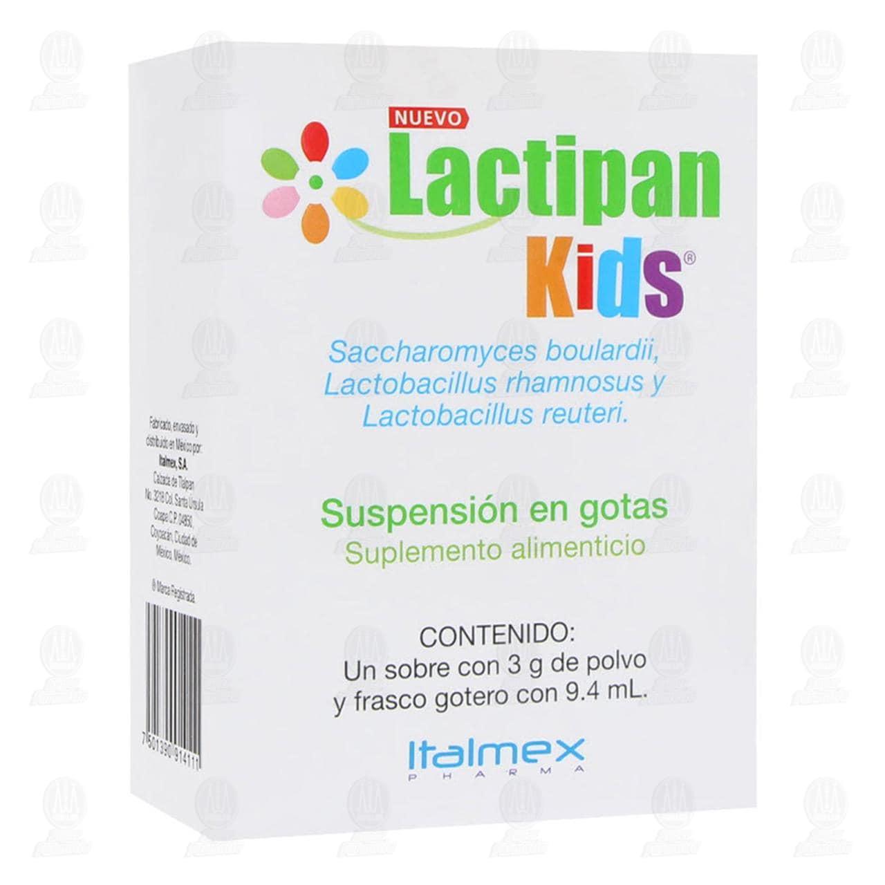 Comprar Lactipan Kids Sobres 3gr Suspensión 9.4ml en Farmacias Guadalajara