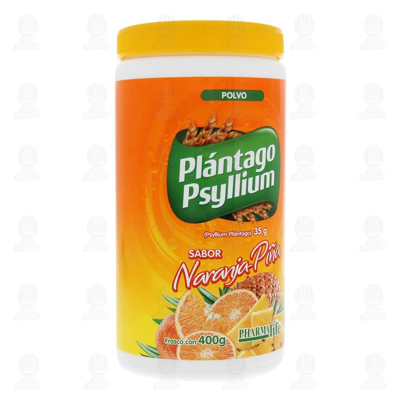 Comprar Plántago Psyllium Sabor Naranja En Polvo 400g Pharmalife en Farmacias Guadalajara