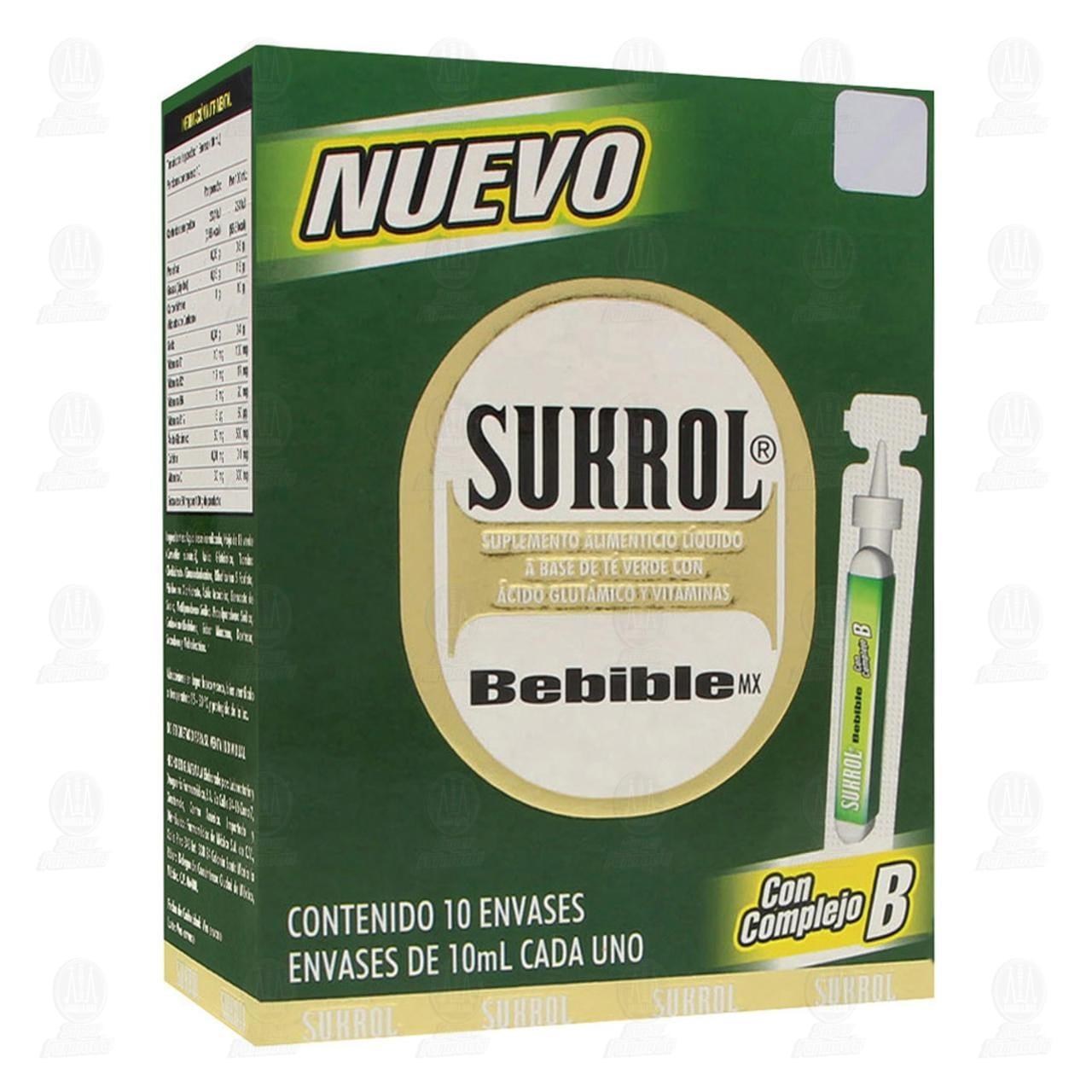 Comprar Sukrol Bebible 10ml 10 Envases en Farmacias Guadalajara