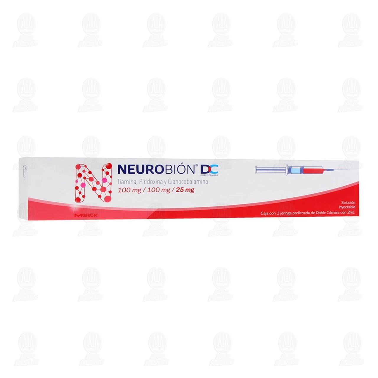 Comprar Neurobión 100mg/100mg/25mg con 1 Jeringa Doble Cámara en Farmacias Guadalajara