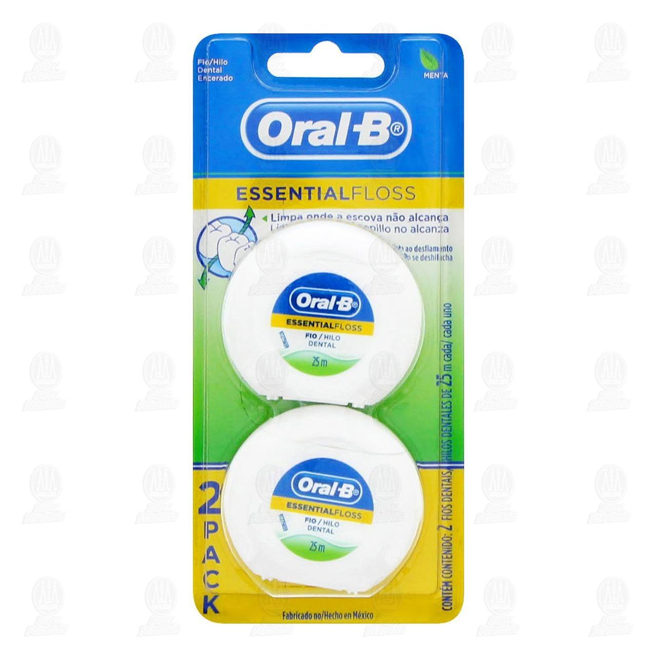 Comprar Hilo Dental Oral-B Essential Floss Encerado, 2 pzas. en Farmacias Guadalajara