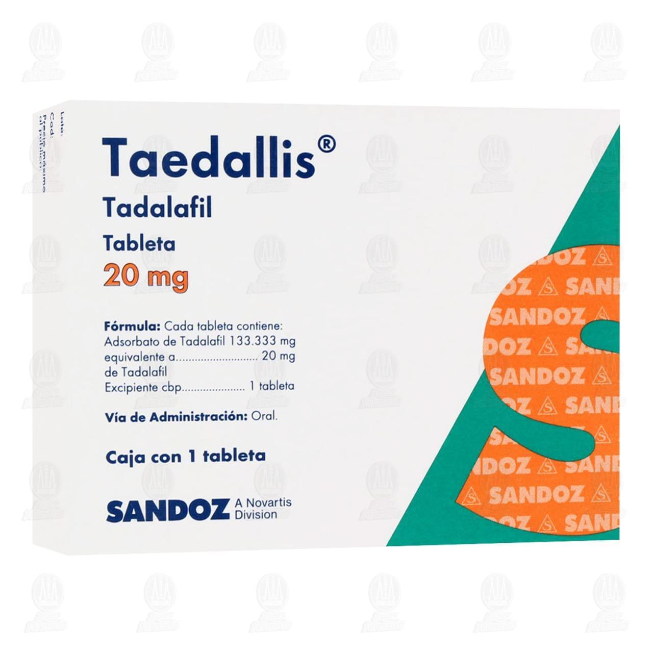 Comprar Taedallis 20 mg 1 Tableta en Farmacias Guadalajara