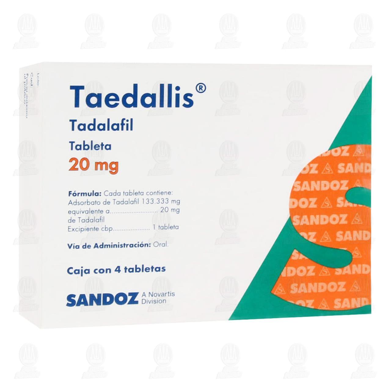 Taedallis 20 mg 4 Tabletas