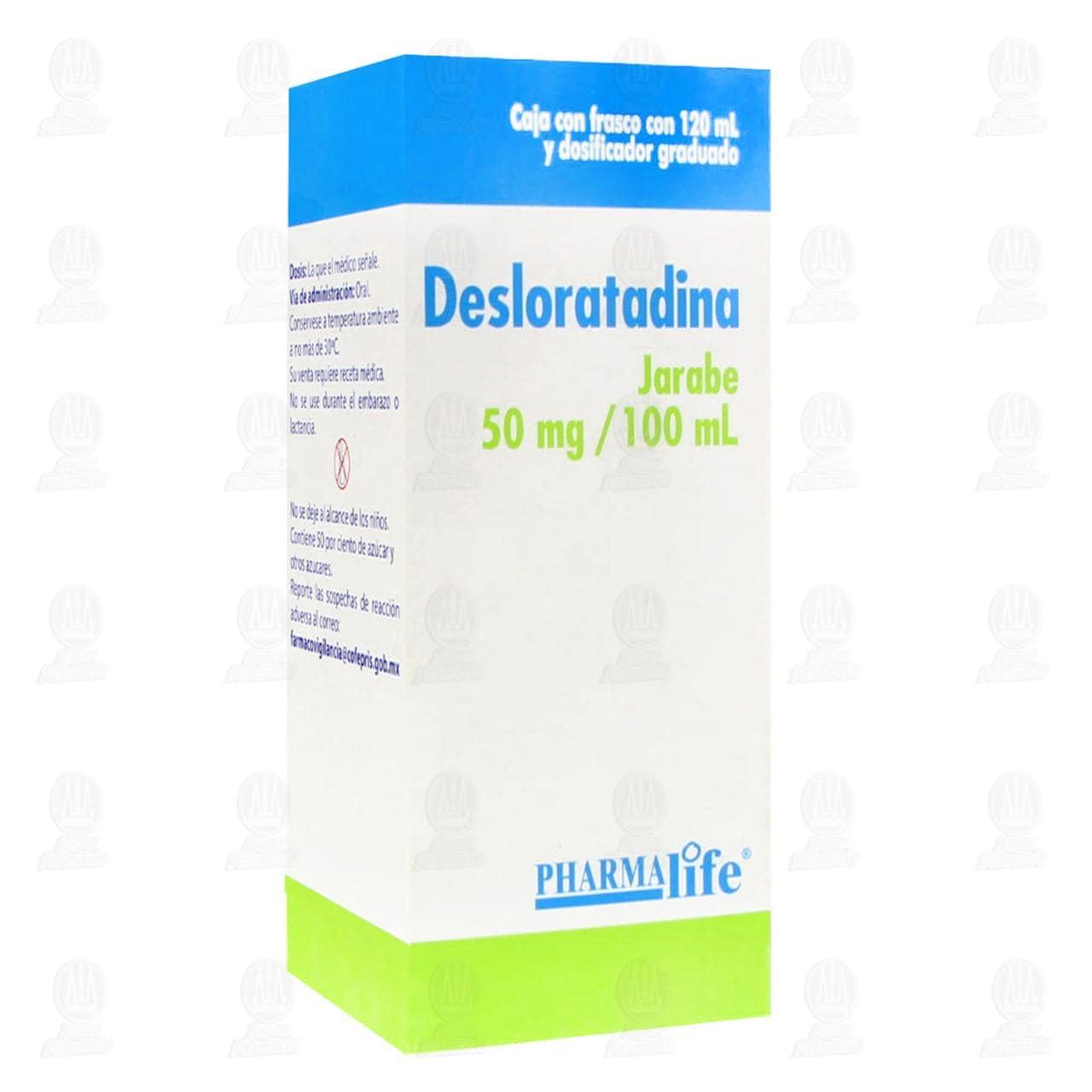Comprar Desloratadina Jarabe 50mg/100ml 120ml Pharmalife en Farmacias Guadalajara
