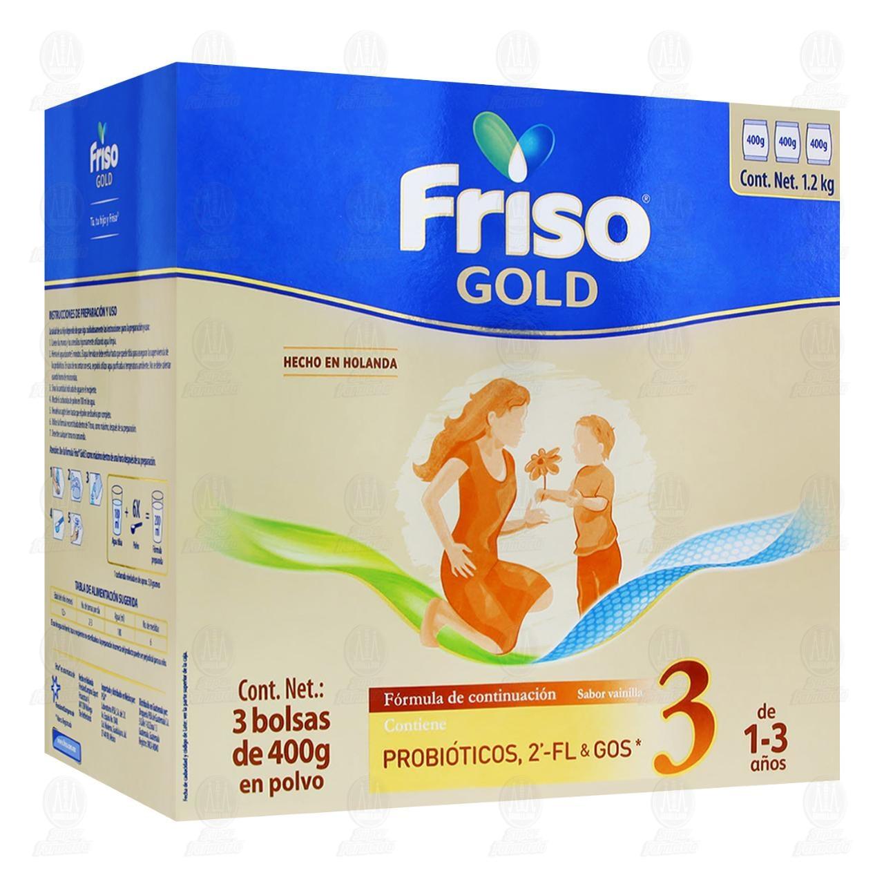 Comprar Fórmula Infantil Friso Gold 3 Joven Explorador Sabor Vainilla (Edad 1 a 3 Años), 1.2 kg. en Farmacias Guadalajara