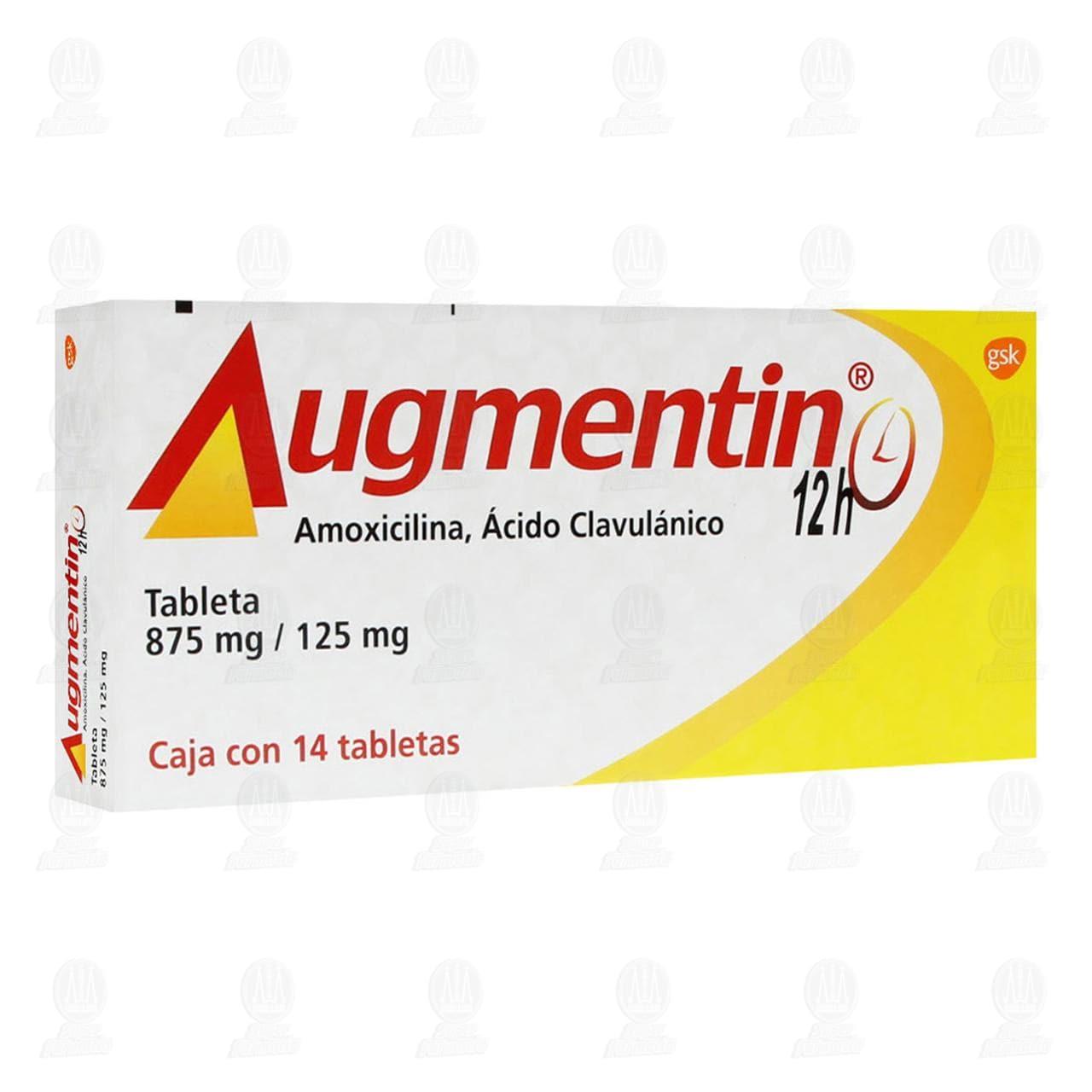 Comprar Augmentin 12 horas 875mg/125mg 14 Tabletas en Farmacias Guadalajara