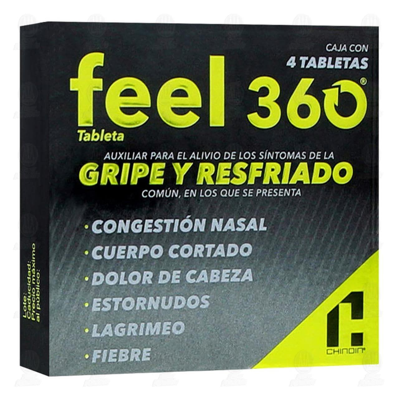 Comprar Feel 360 4 Tabletas en Farmacias Guadalajara