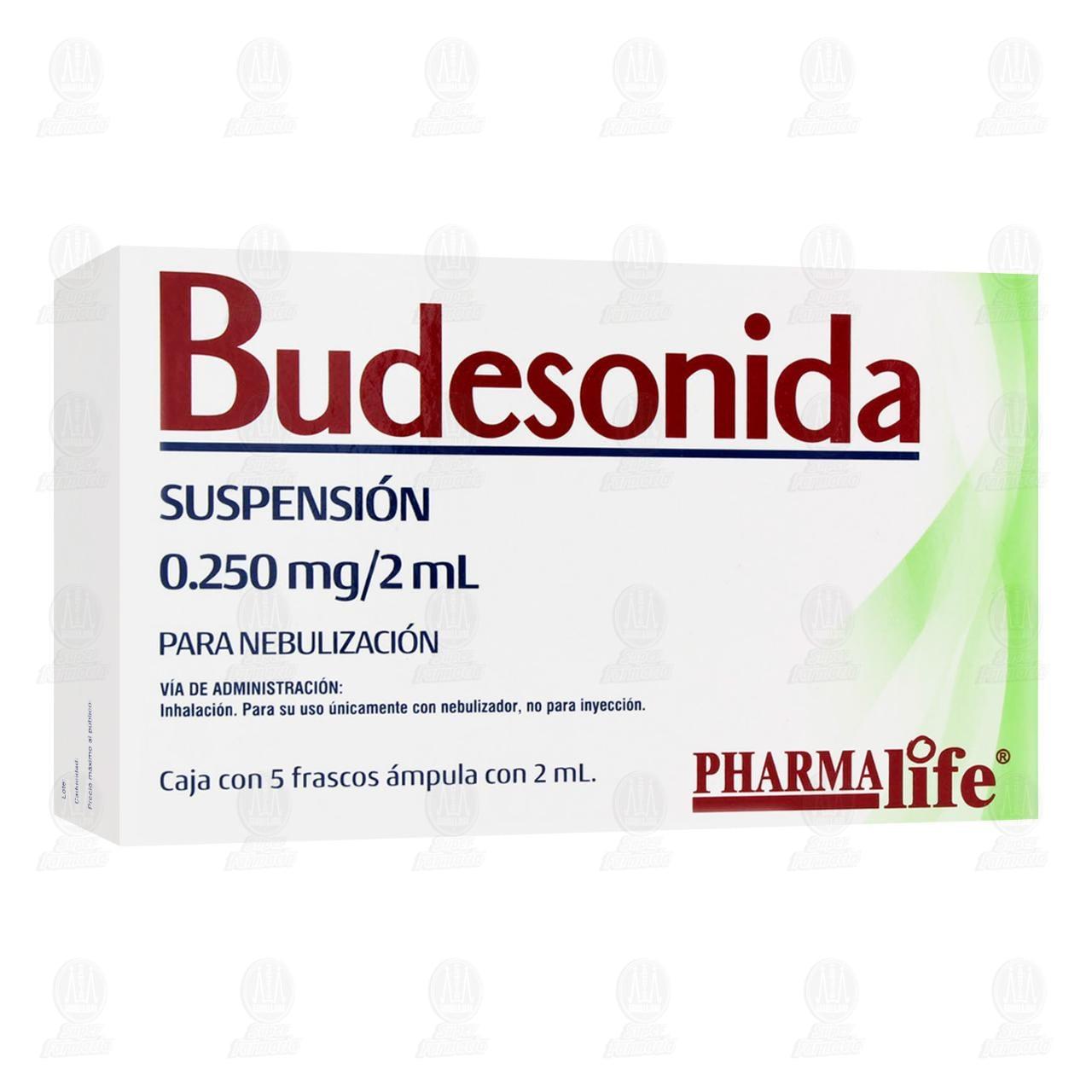 Comprar Budesonida 0.250mg/ml 2ml Nebulizaciones 5 Frascos Ámpula Pharmalife en Farmacias Guadalajara