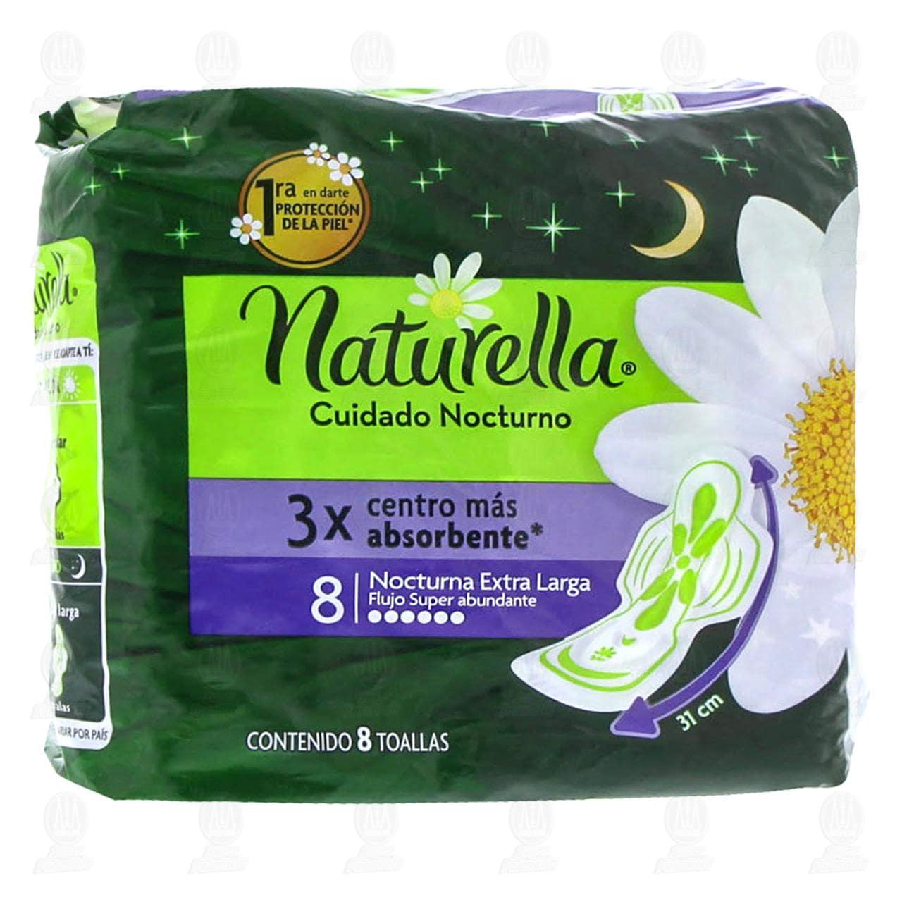 Comprar Toallas Naturella Cuidado Nocturno, 8 pzas. en Farmacias Guadalajara