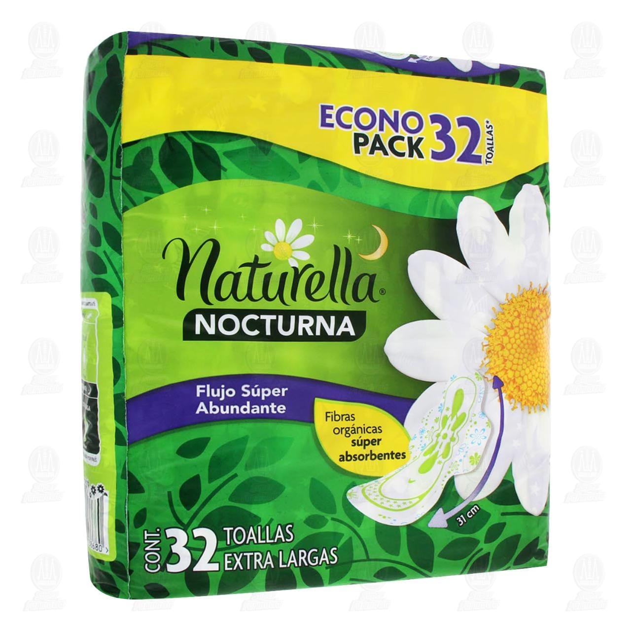 Comprar Toallas Nocturna Extra Larga Naturella Cuidado Nocturno, 32 pzas. en Farmacias Guadalajara