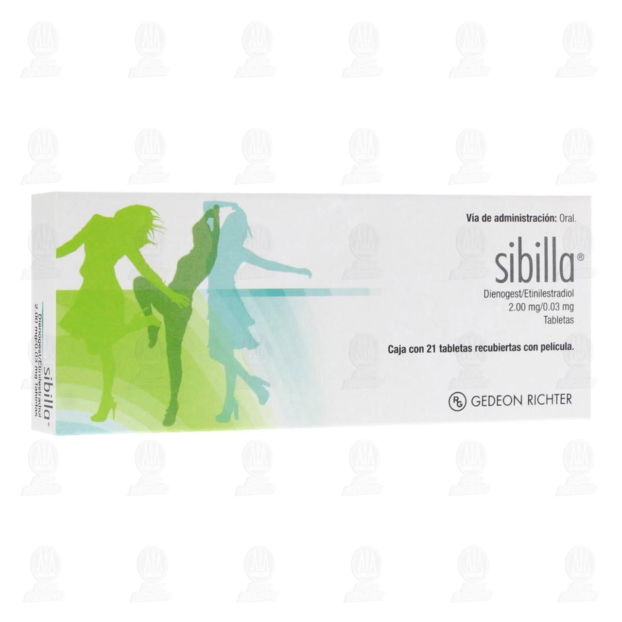 Comprar Sibilla 2.00/0.03mg 21 Tabletas en Farmacias Guadalajara