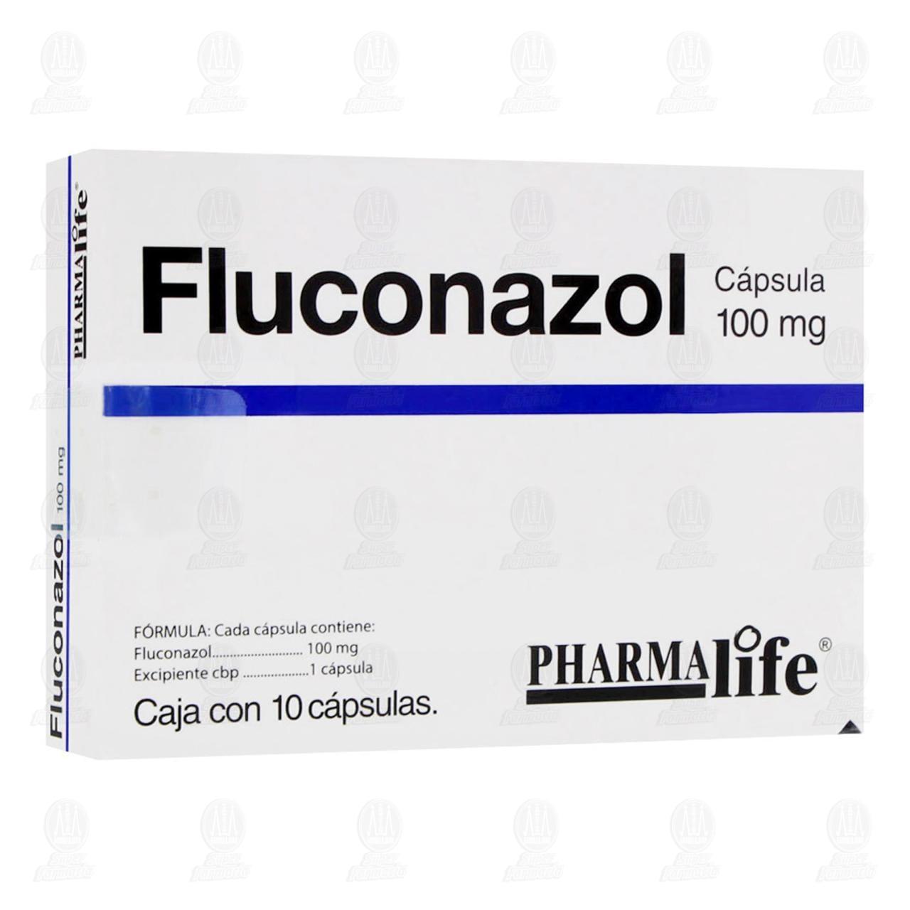 Comprar Fluconazol 100mg 10 Cápsulas Pharmalife en Farmacias Guadalajara