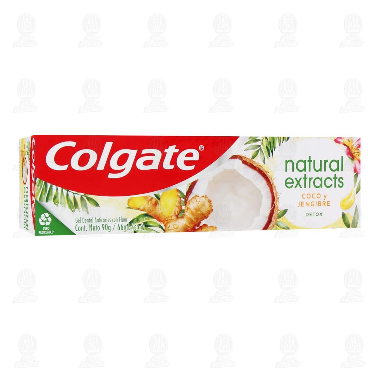 Comprar Pasta Dental Colgate Natural Extracts Detox Coco y Jengibre, 68 ml. en Farmacias Guadalajara