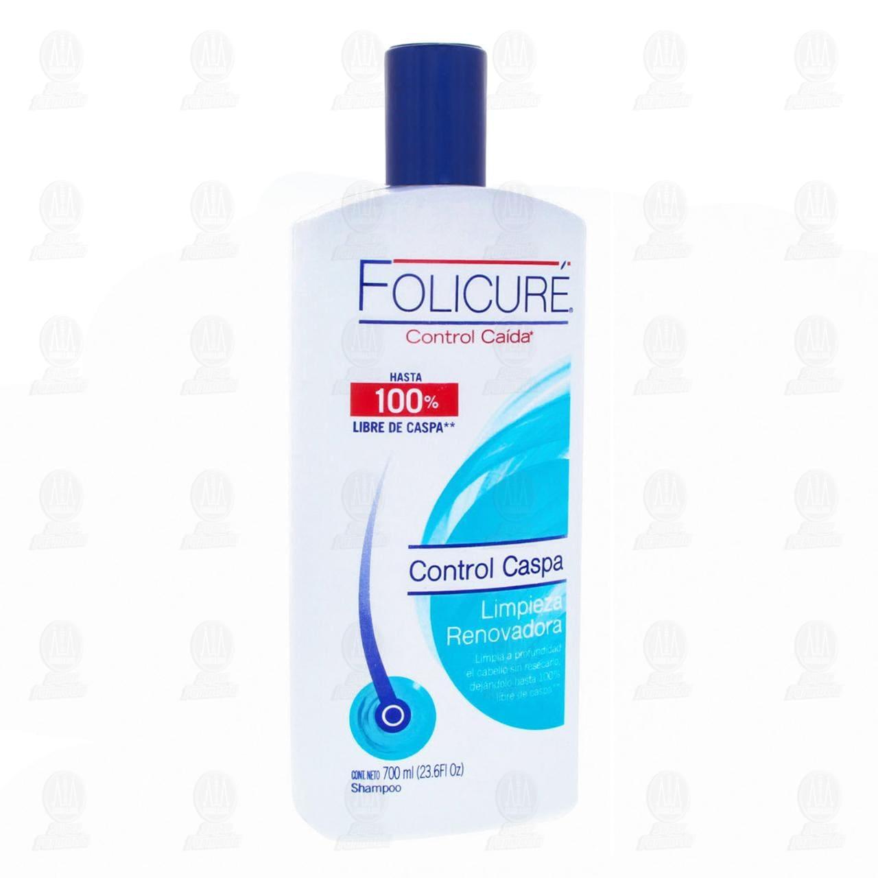 Comprar Shampoo Folicuré Control Caspa Limpieza Renovadora, 700 ml. en Farmacias Guadalajara