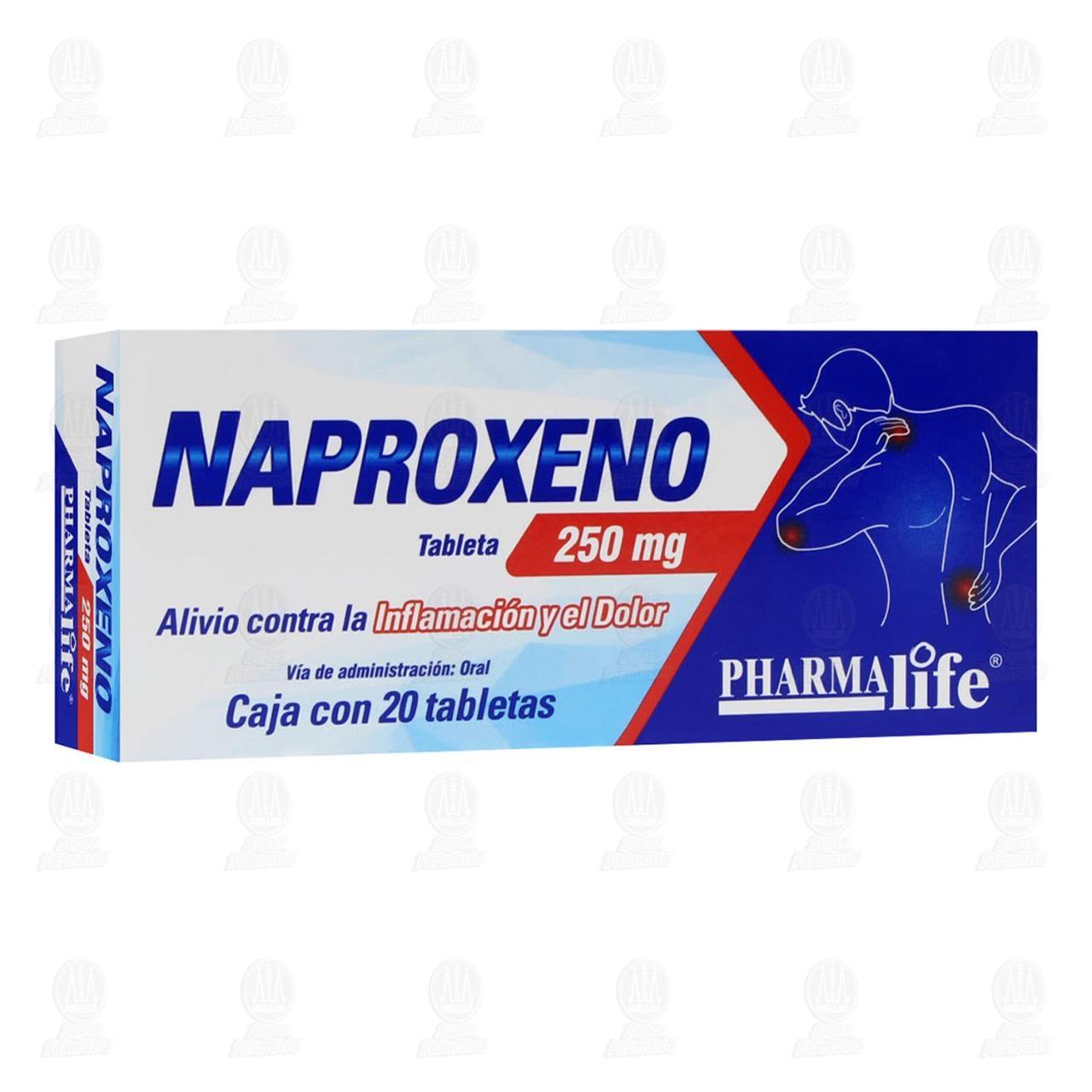 Comprar Naproxeno 250mg 20 Tabletas Pharmalife en Farmacias Guadalajara