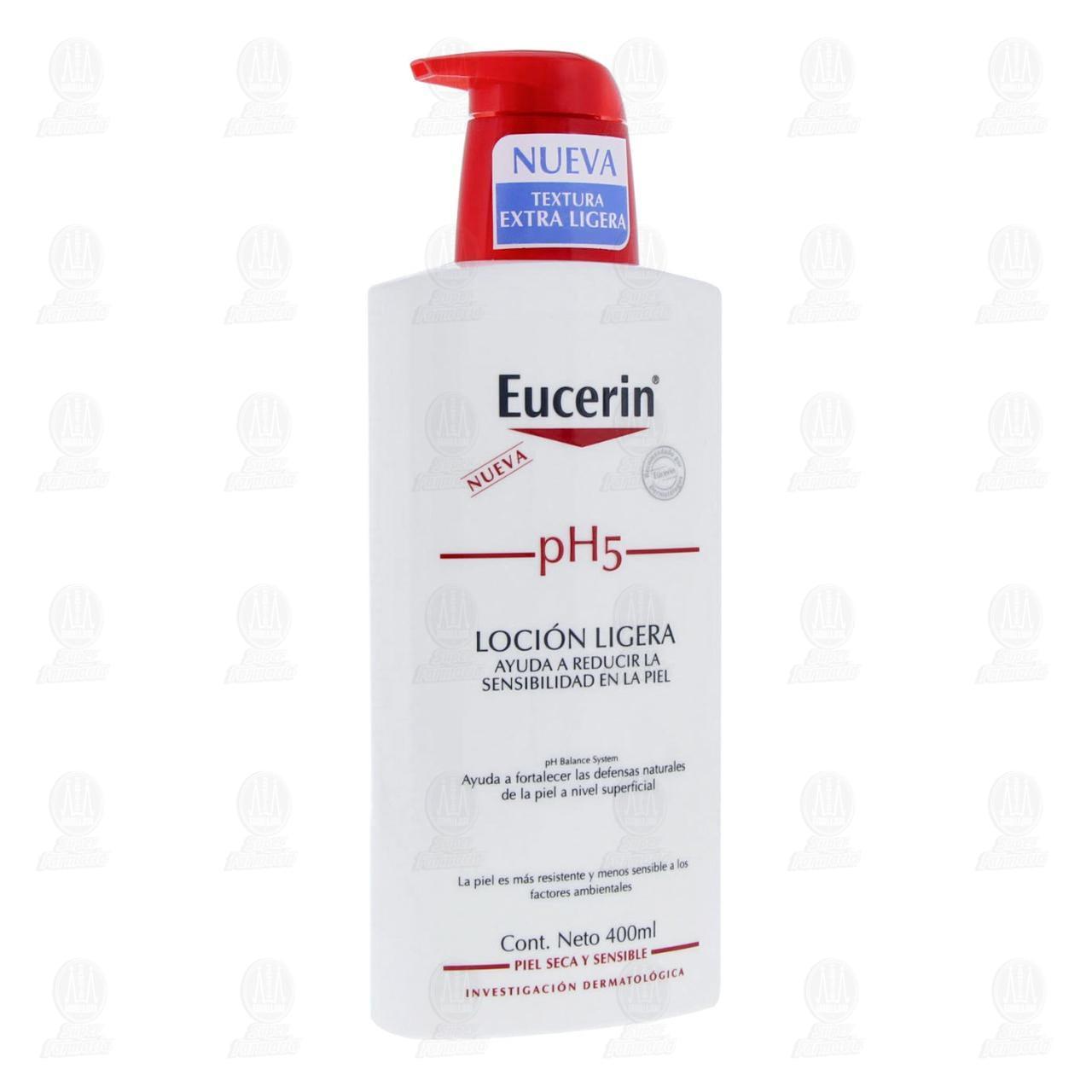 Comprar Eucerin PH5 Loción Hidratante Corporal Textura Ligera, 400ml. en Farmacias Guadalajara