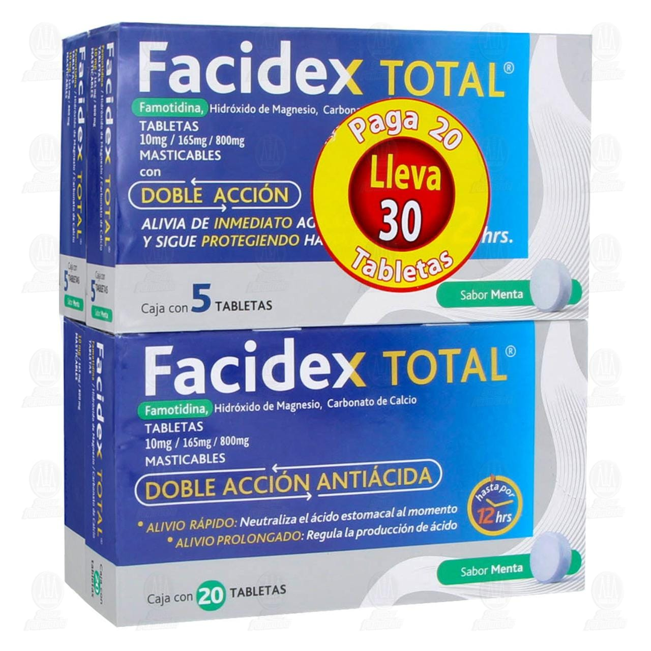 Comprar Facidex Total 10mg 20+10 Tabletas en Farmacias Guadalajara