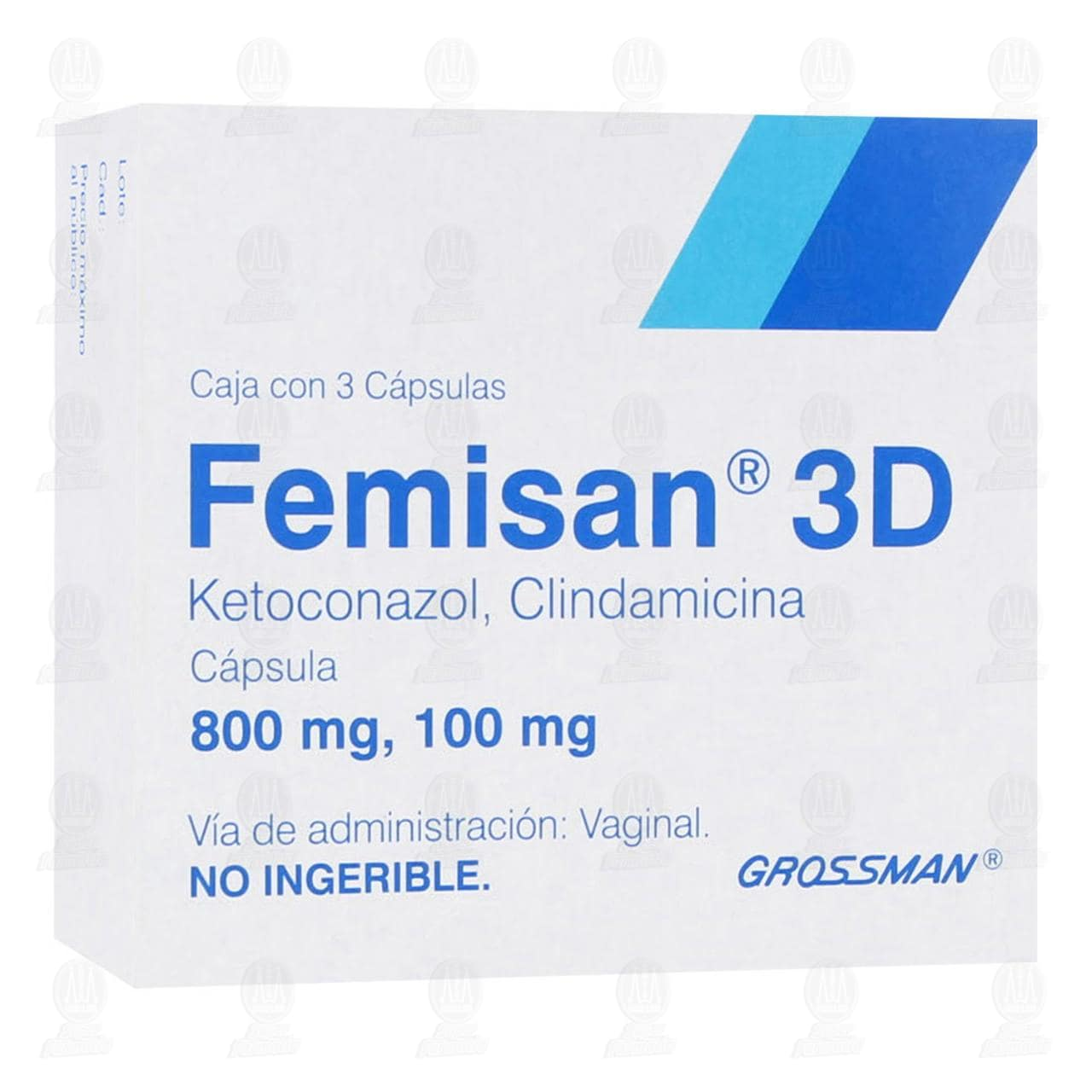 Comprar Femisan 3D 800mg/100mg 3 Cápsulas en Farmacias Guadalajara