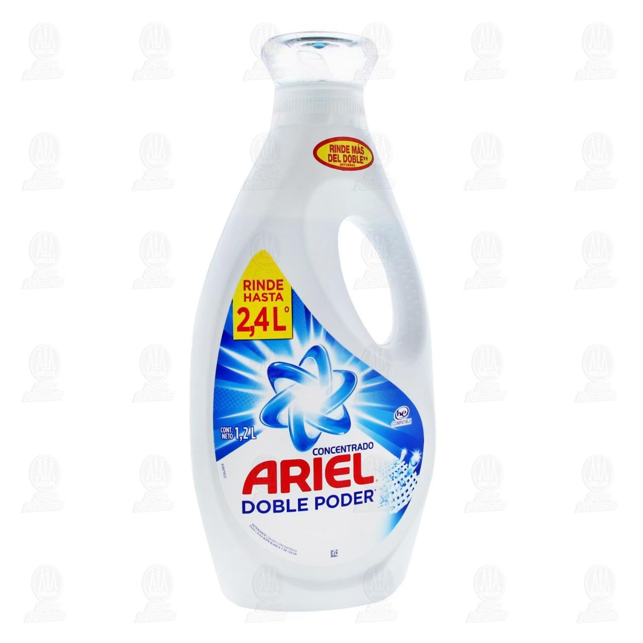 Detergente Ariel Líquido Concentrado Doble Poder Botella 1.2 l.