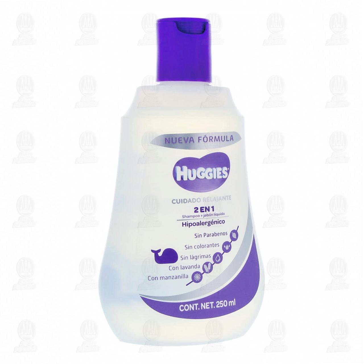Comprar Shampoo Huggies Cuidado Relajante 2 en 1 Hipoalergénico, 250 ml. en Farmacias Guadalajara