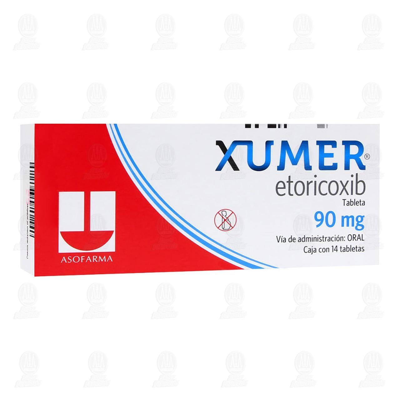 Comprar Xumer 90mg 14 Tabletas en Farmacias Guadalajara