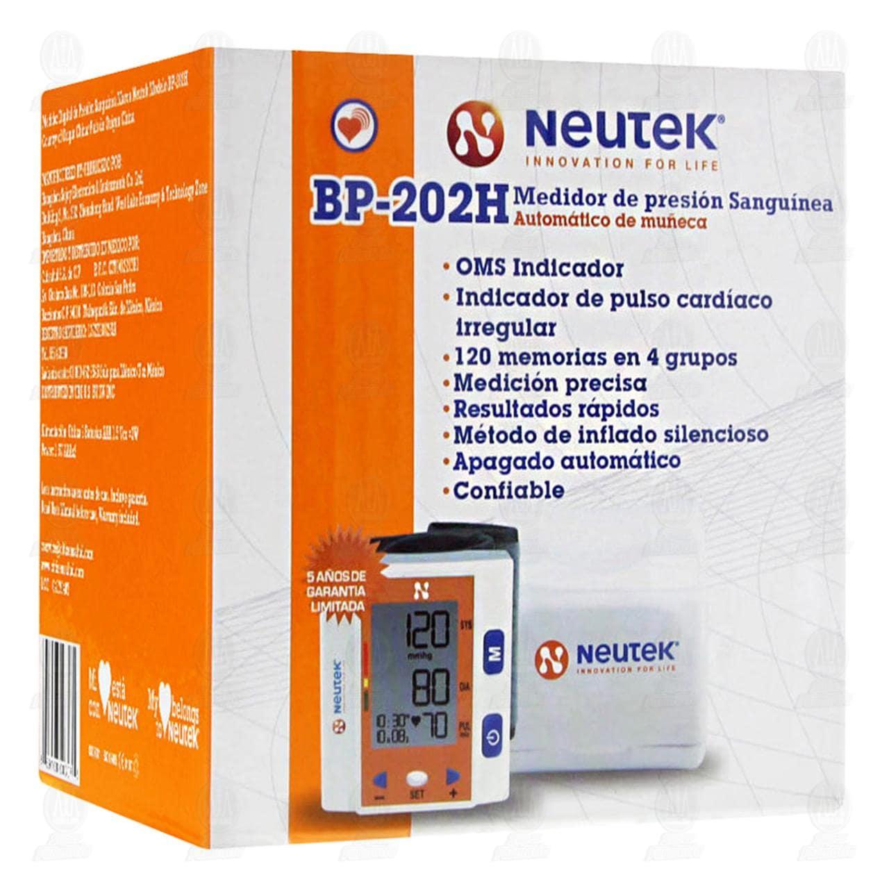 Comprar Monitor Neutek De Presión Sanguínea Para Muñeca Automático en Farmacias Guadalajara