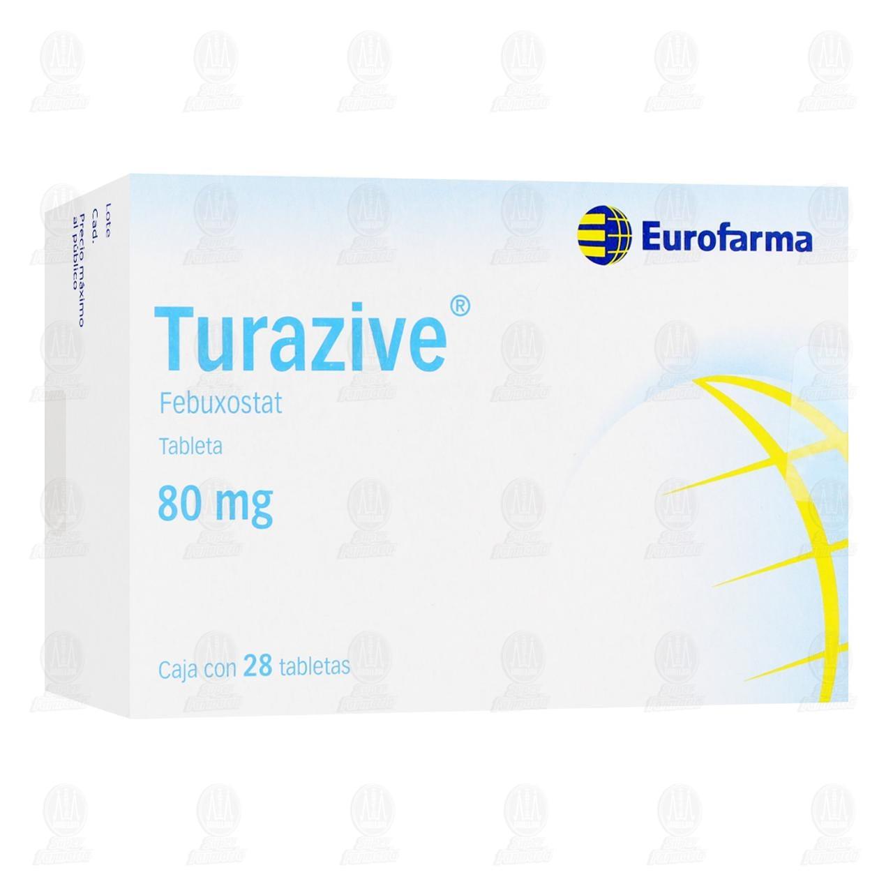 Comprar Turazive 80mg 28 Tabletas en Farmacias Guadalajara