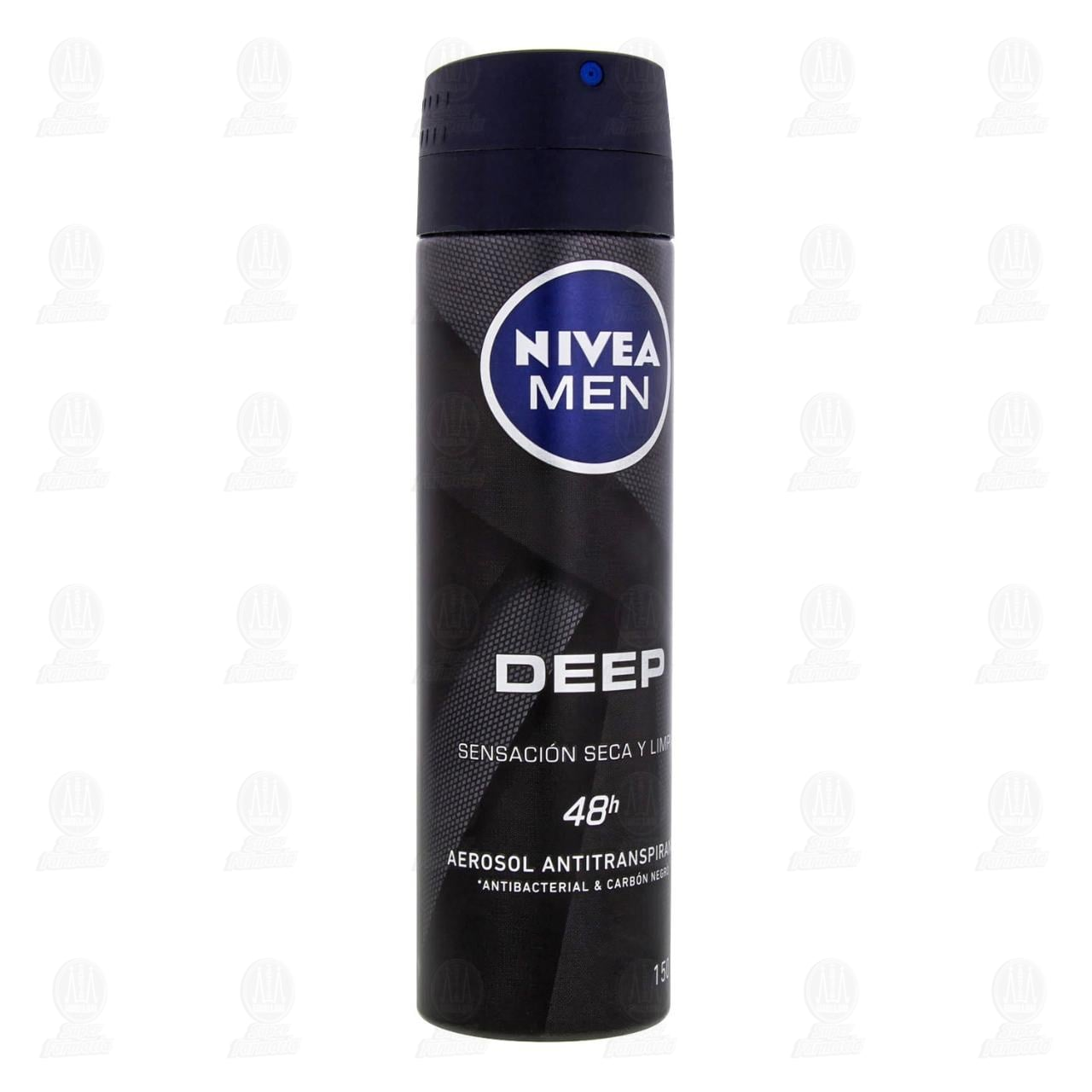 Comprar Nivea Men Desodorante Antitranspirante Hombre Deep Spray, 150ml. en Farmacias Guadalajara