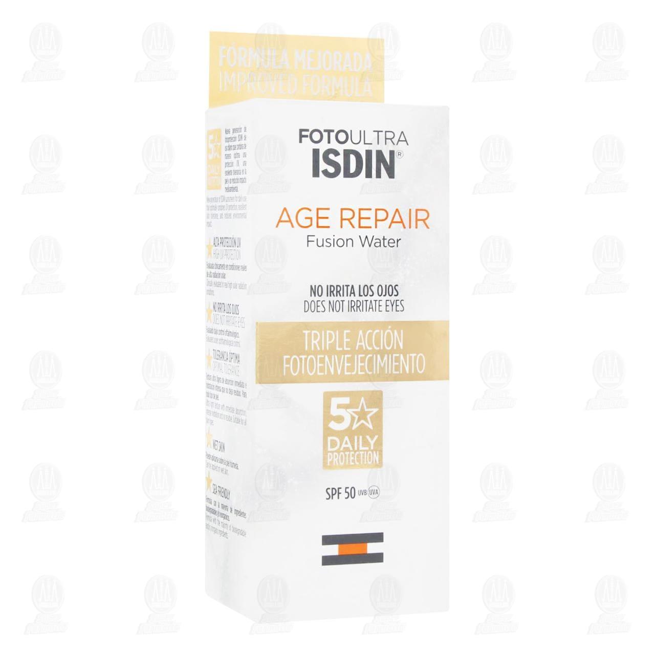 Comprar Fotoultra Isdin 50 Age Repair Fusion Water, 50 ml. en Farmacias Guadalajara