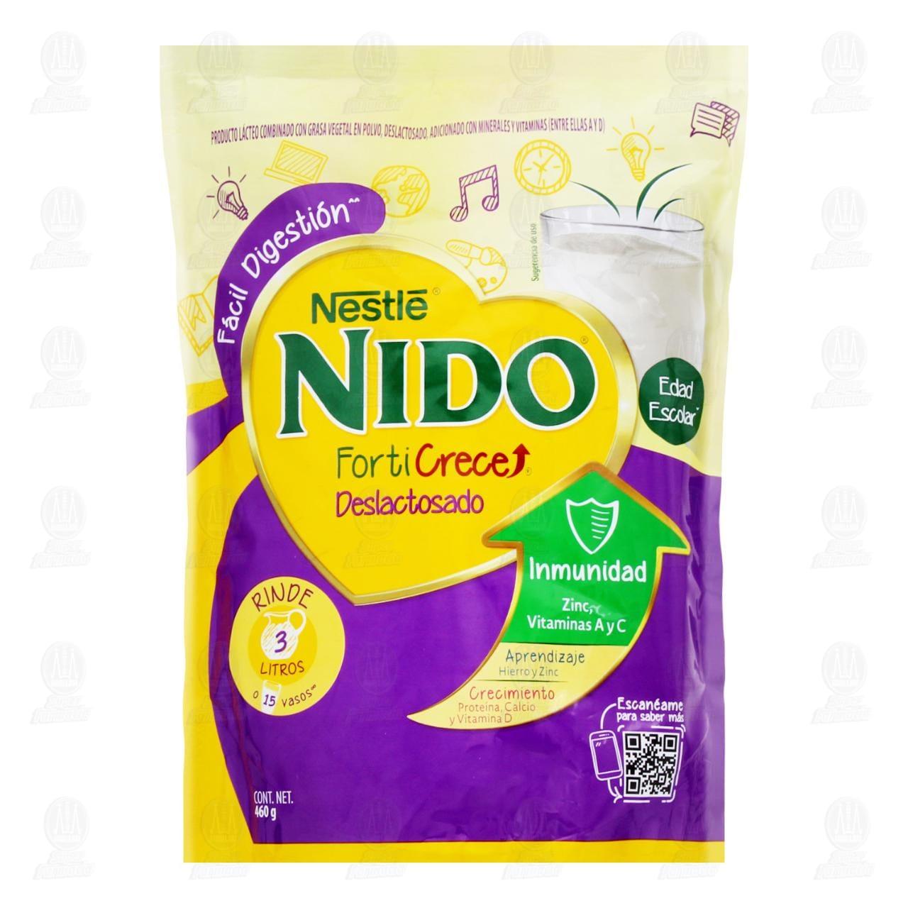 Comprar Producto Lácteo Nestlé Nido FortiGrow Deslactosado en Polvo, 460 gr. en Farmacias Guadalajara