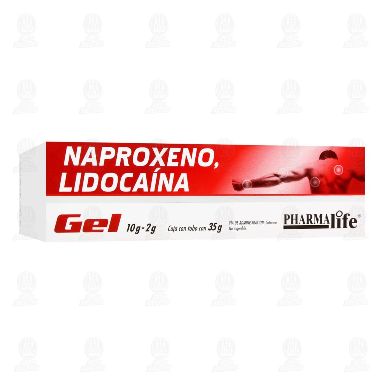 Comprar Naproxeno Lidocaína 10/2g 35gr Gel Pharmalife en Farmacias Guadalajara