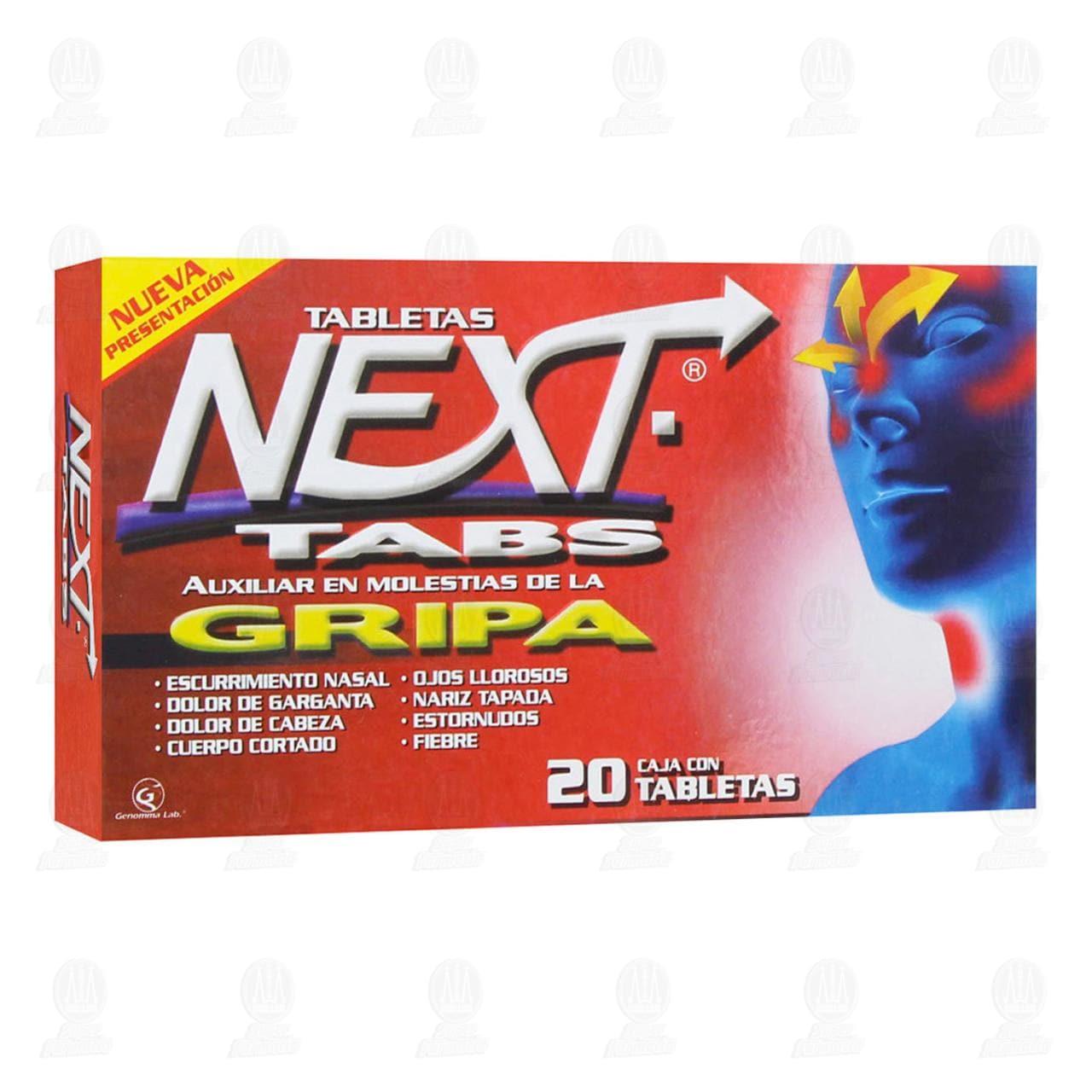 Comprar Next Tabs 20 Tabletas en Farmacias Guadalajara