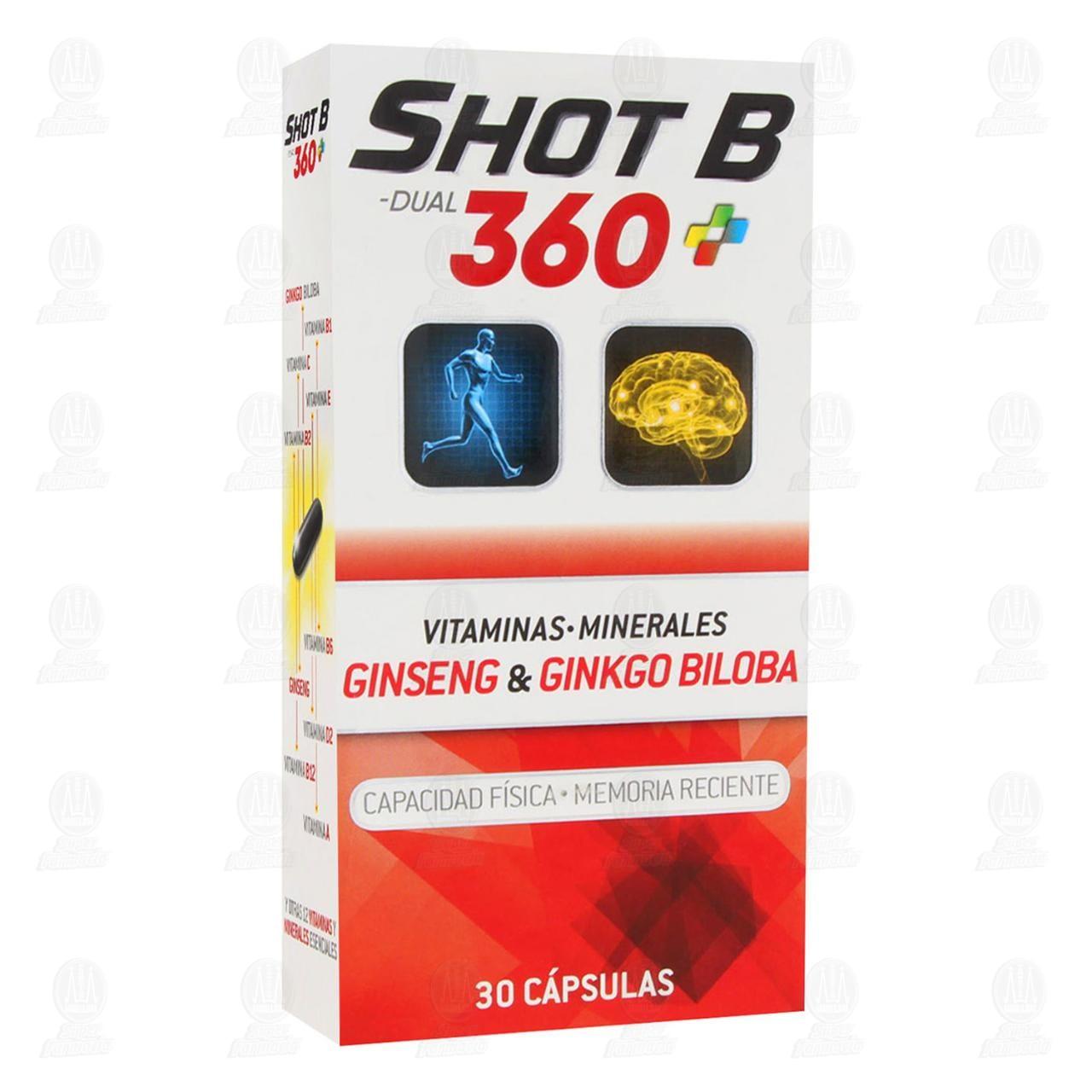 Comprar Shot B Dual 360 30 Cápsulas en Farmacias Guadalajara